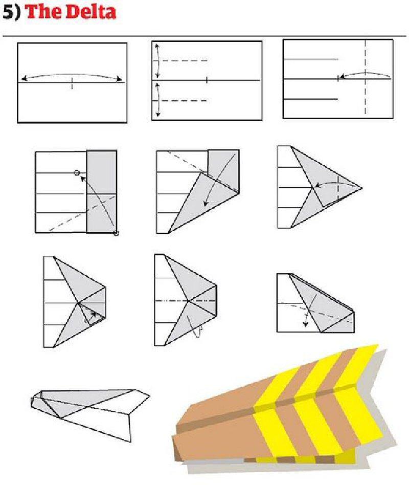 Как построить различные самолетики из
