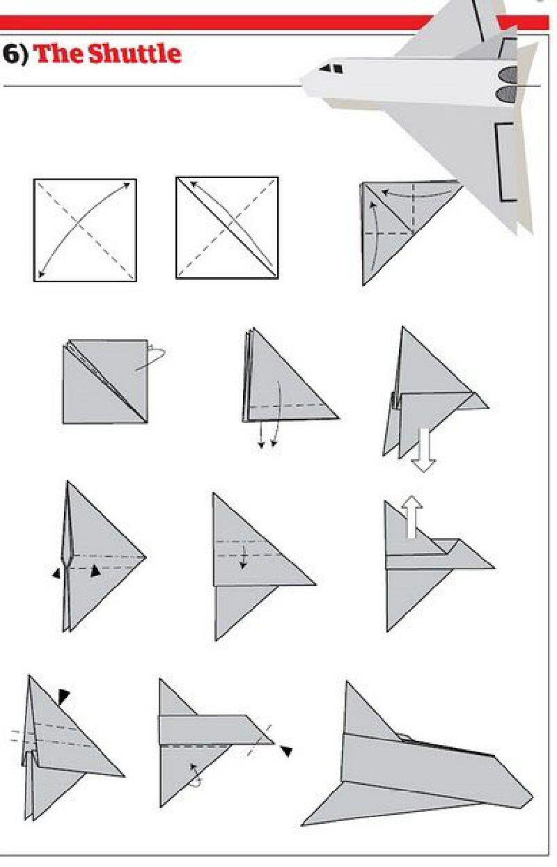 Самолёт из бумаги схема фото