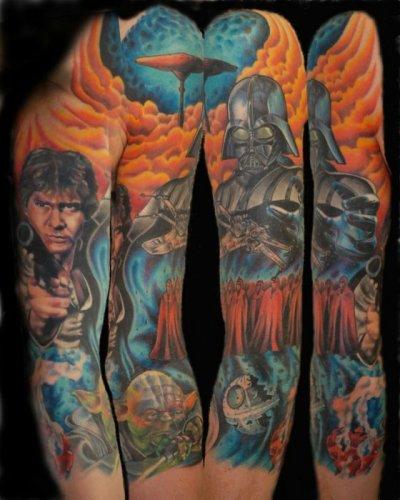 Татуировки в стиле звездные войны