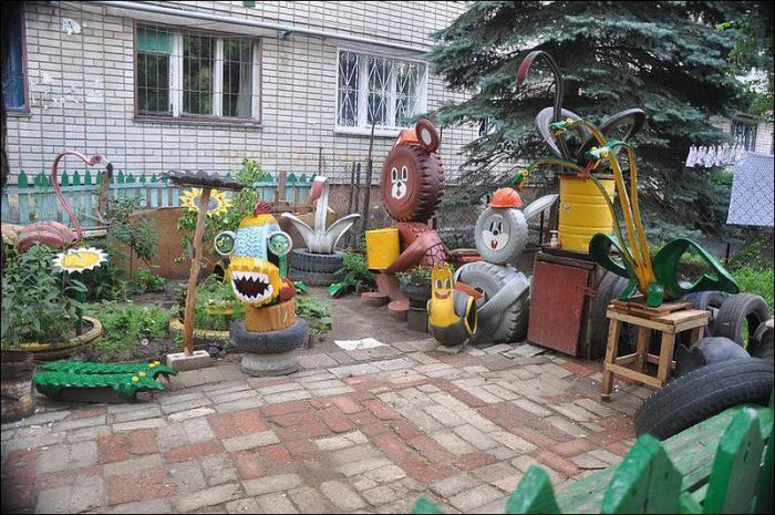 Детский сад площадки своими руками скаты
